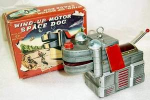 Wind-Up Motor Space Dog